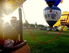 Cámaras de fotos en el globo
