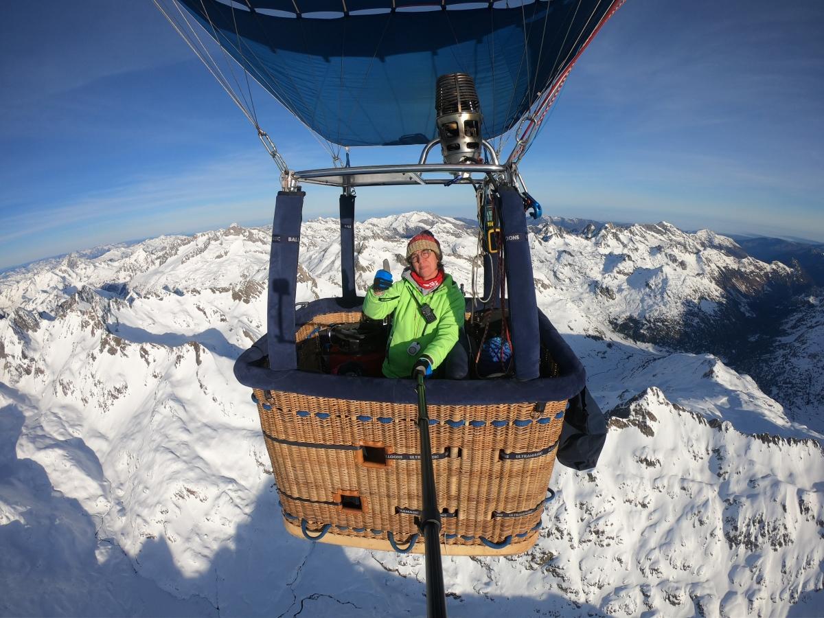 Nuestra piloto en Pirineos