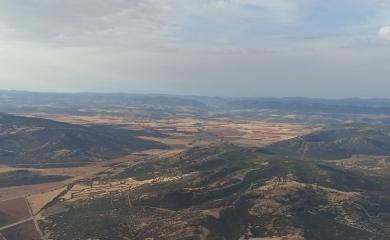 Vista del Castillo de Calatrava la Nueva desde el aire