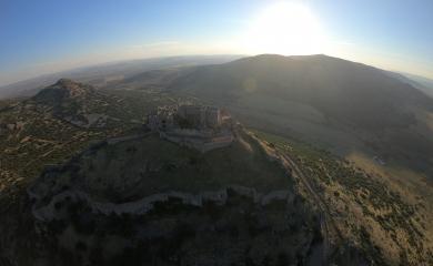 ¡Castillo de Calatrava desde el cielo!